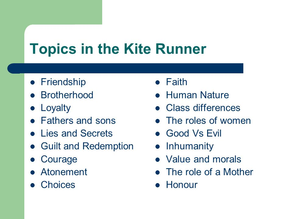 the kite runner theme ppt video online  topics in the kite runner