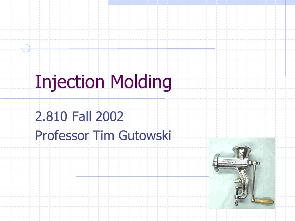 2.810 Fall 2002 Professor Tim Gutowski