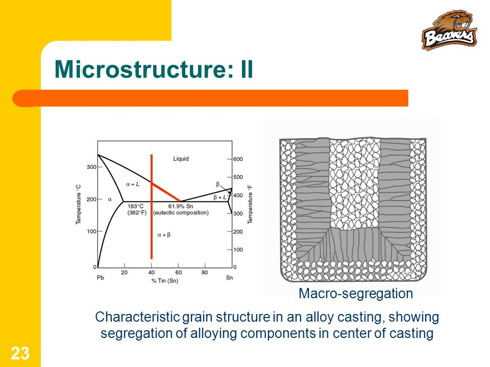 Microstructure: II Macro-segregation