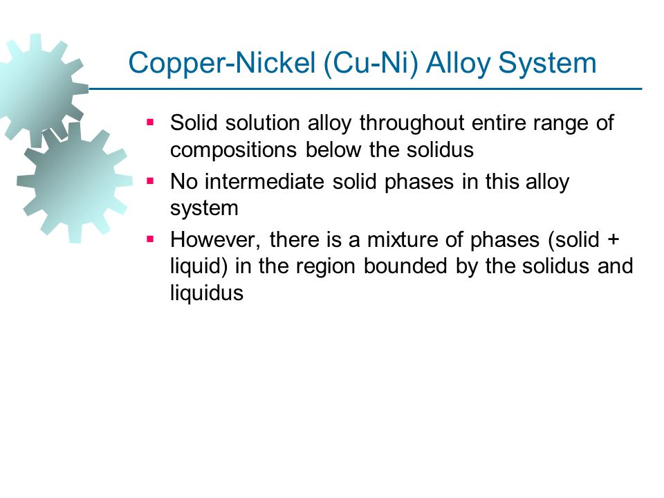 Copper‑Nickel (Cu-Ni) Alloy System