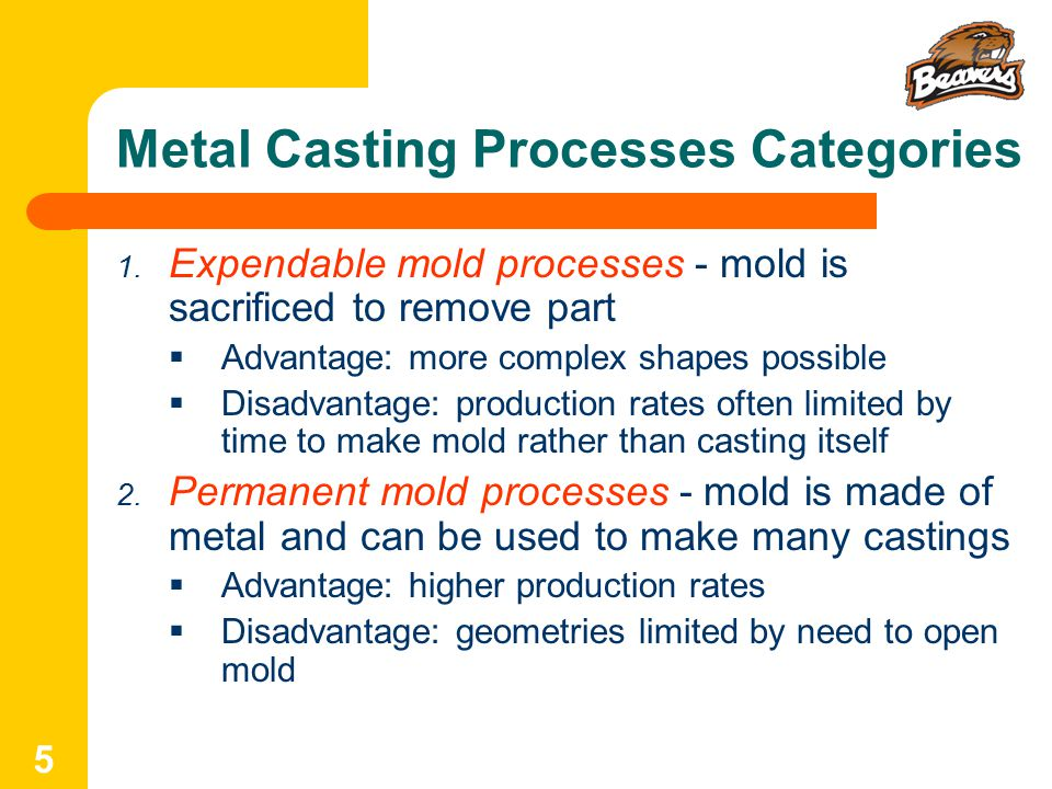 Metal Casting Processes Categories