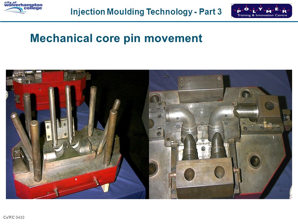 Mechanical core pin movement