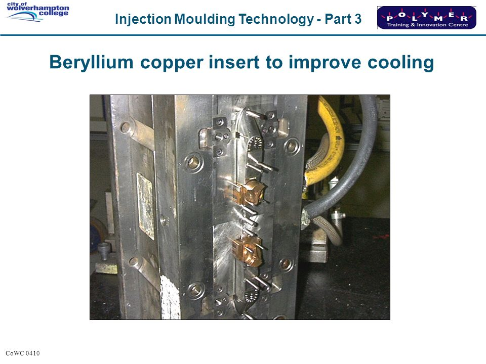 Beryllium copper insert to improve cooling