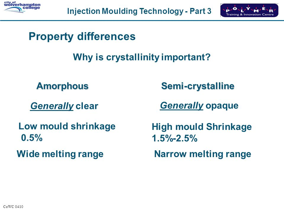 Why is crystallinity important