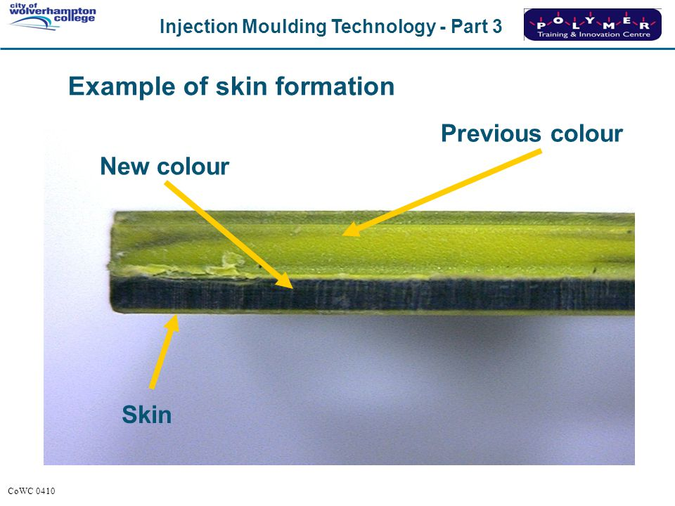 Example of skin formation
