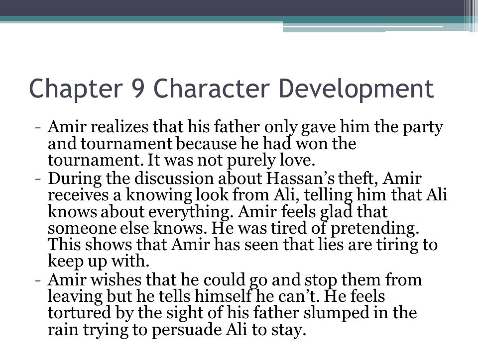 Chapter 9 Character Development