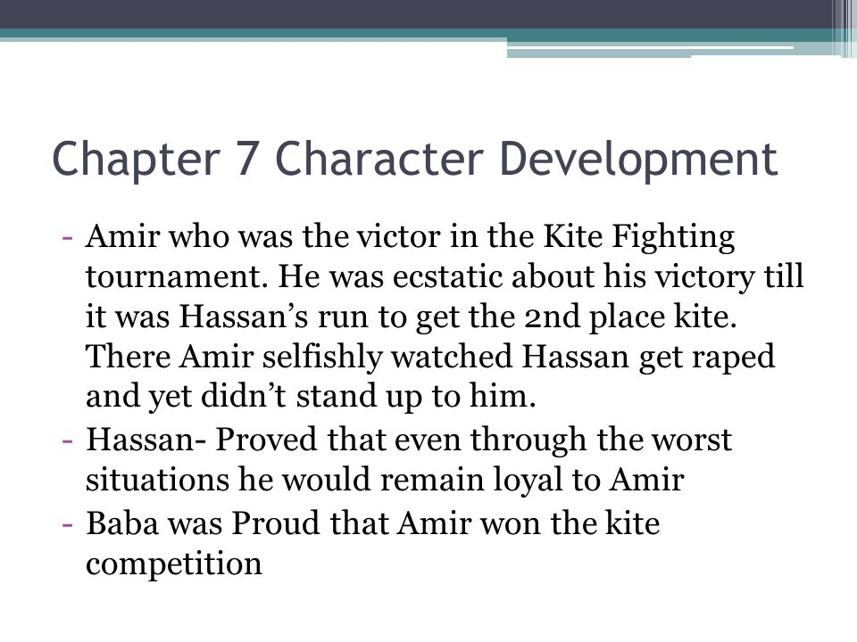 Chapter 7 Character Development