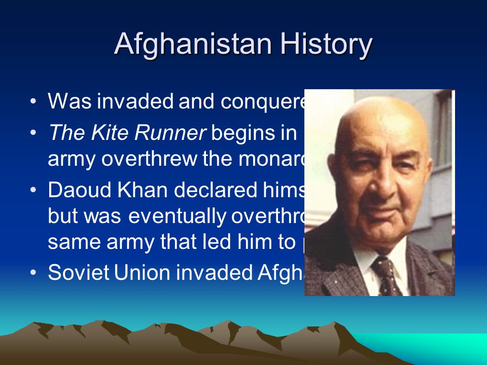 the people in the kite runner of the afghanistan history 23082018  get an answer for 'in the kite runner how did the soviet war and the rise of the  people in afghanistan were quite content with the order and.