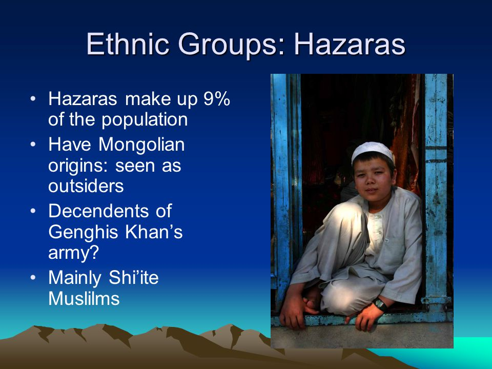 Ethnic Groups: Hazaras