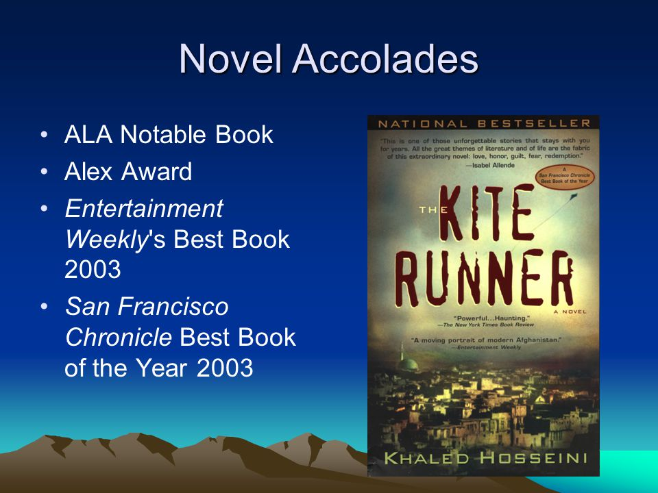 Novel Accolades ALA Notable Book Alex Award