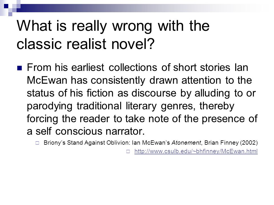 What is really wrong with the classic realist novel