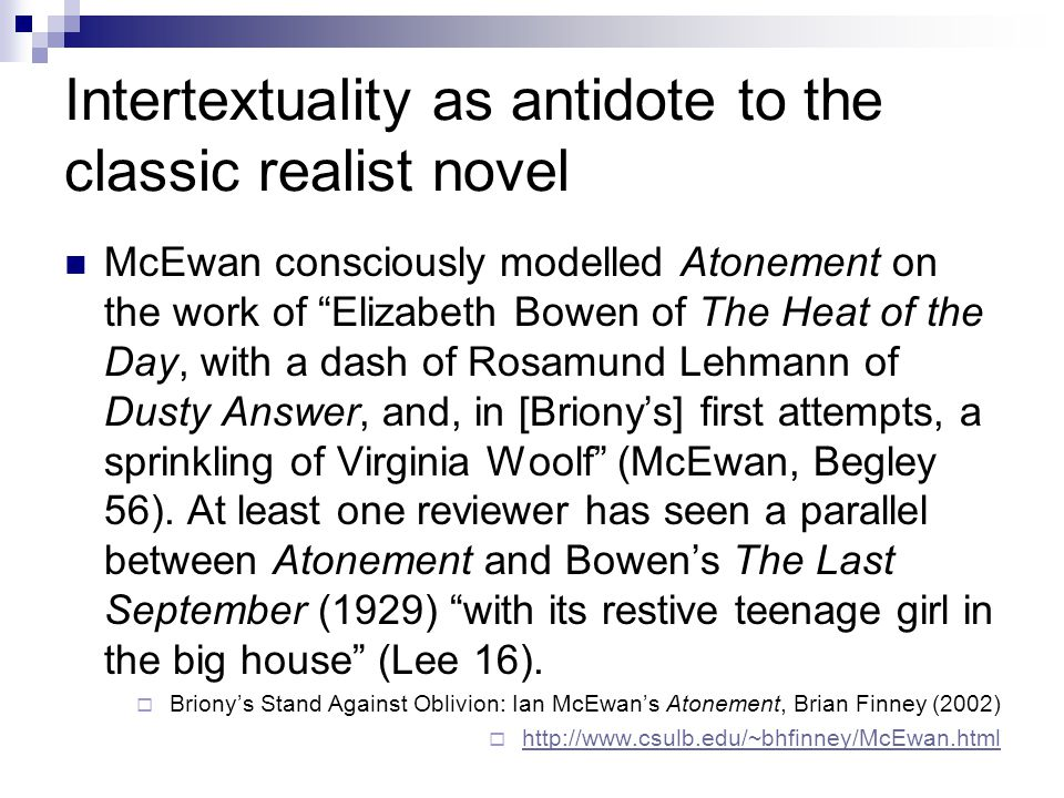 Intertextuality as antidote to the classic realist novel