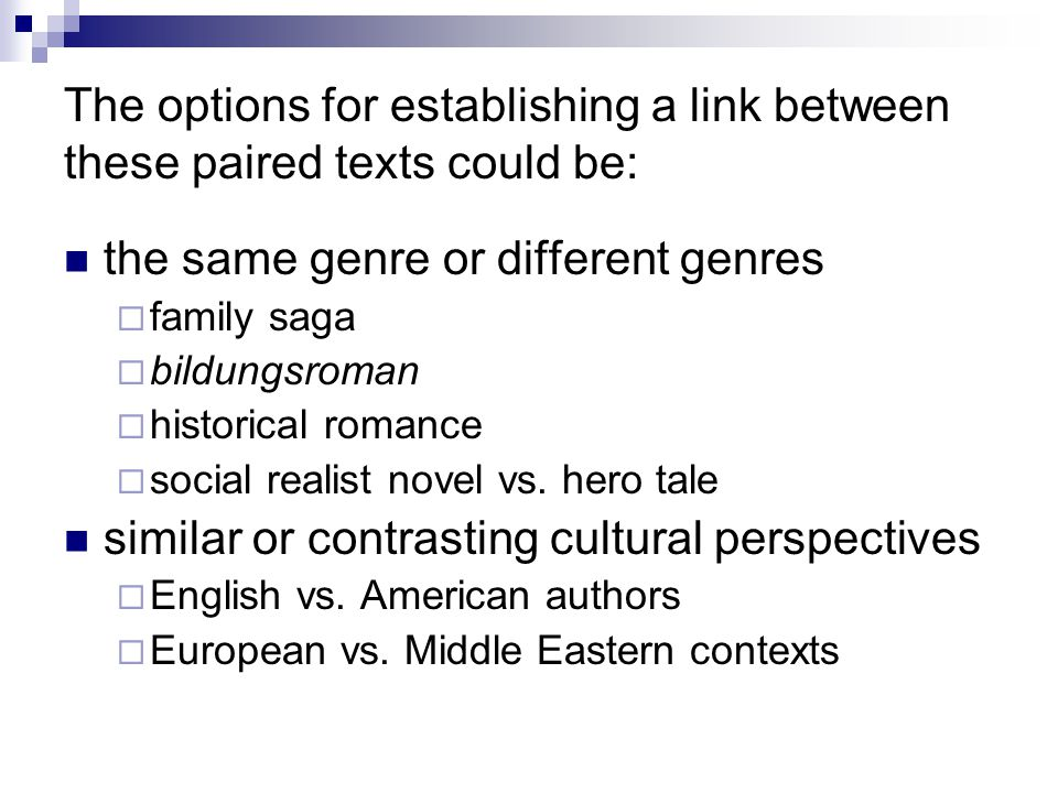 the same genre or different genres