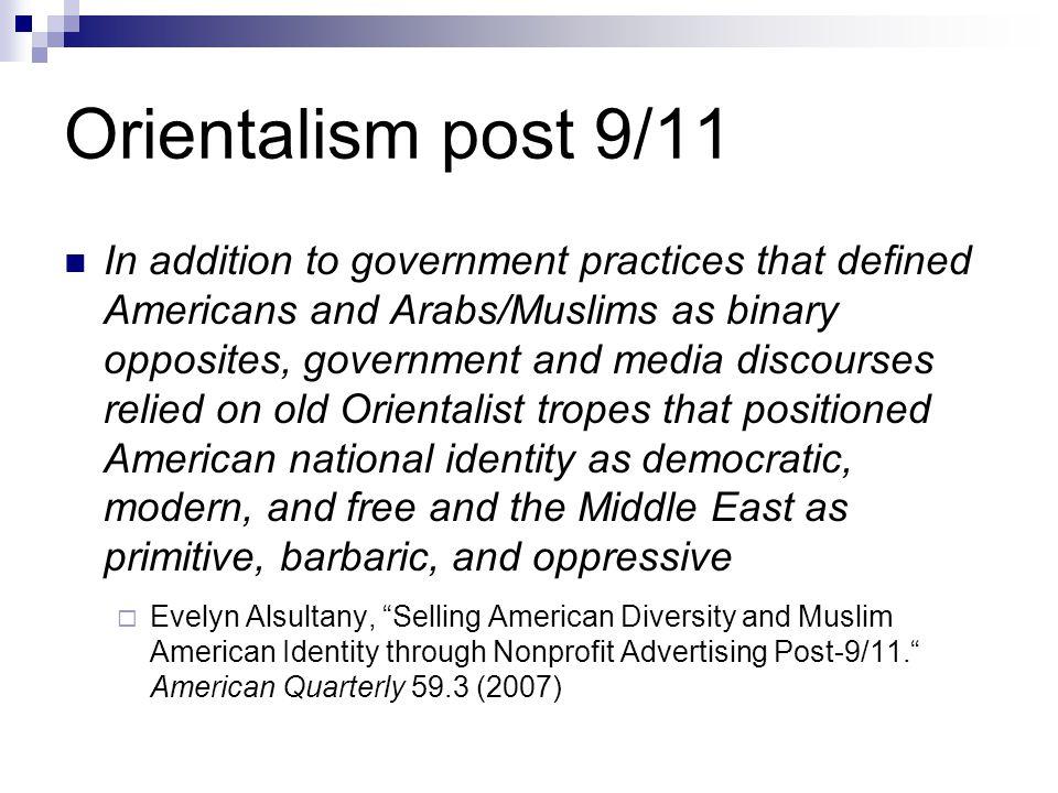 Orientalism post 9/11
