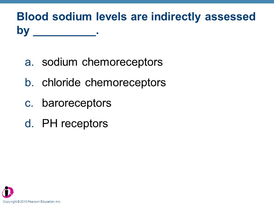Blood sodium levels are indirectly assessed by __________.