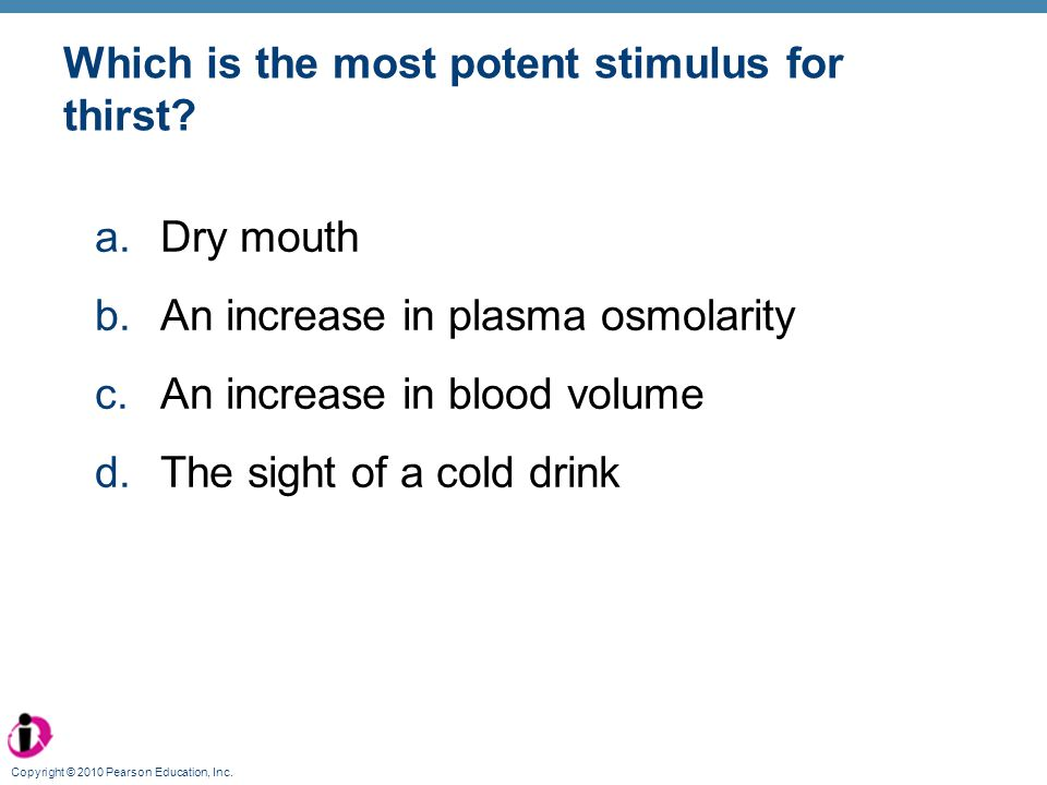 Which is the most potent stimulus for thirst