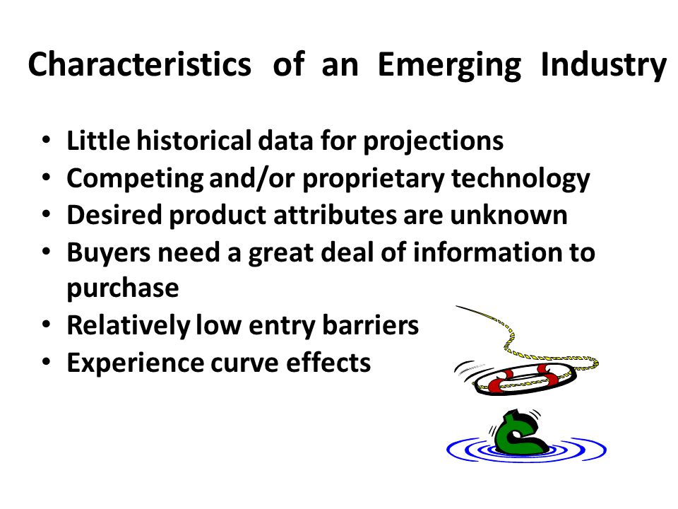Characteristics of an Emerging Industry