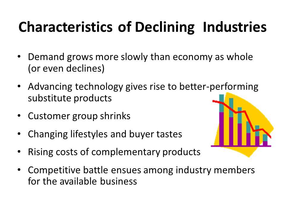 Characteristics of Declining Industries