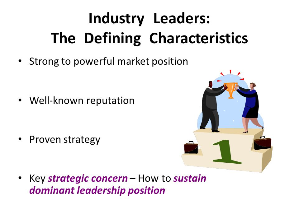 Industry Leaders: The Defining Characteristics