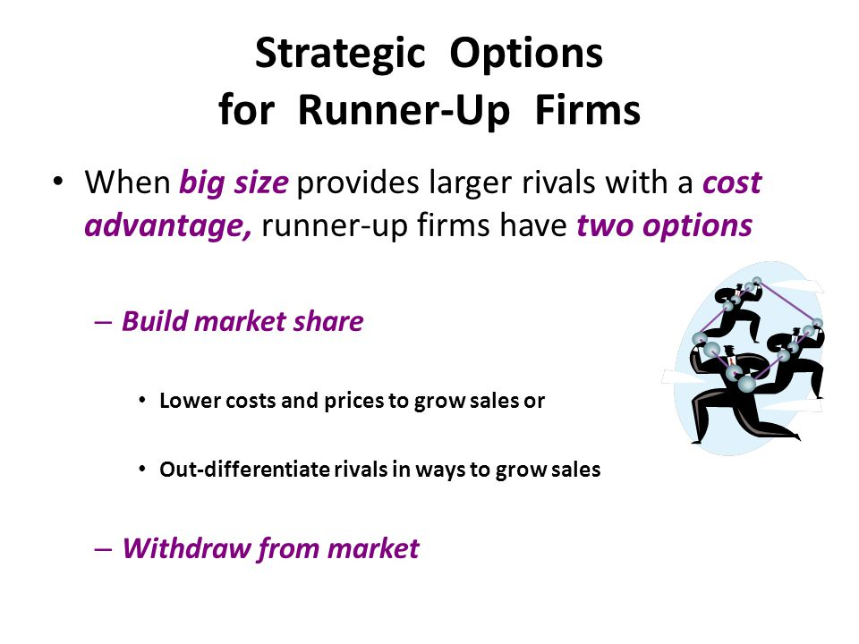 Strategic Options for Runner-Up Firms