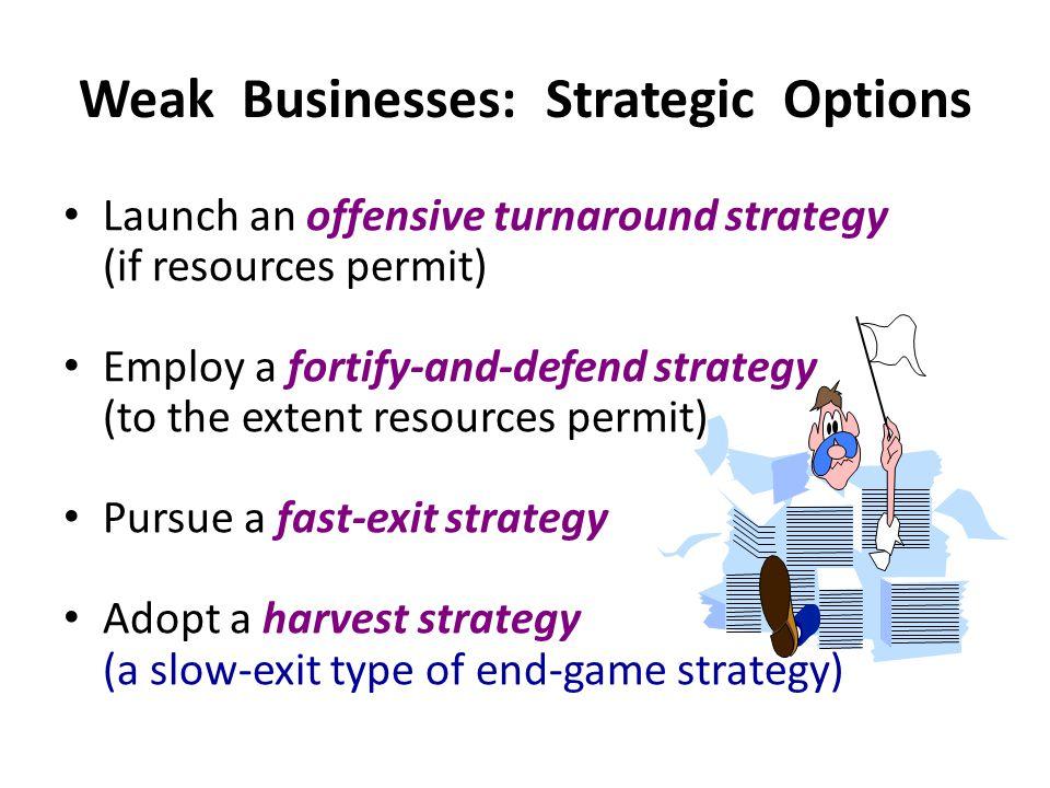 Weak Businesses: Strategic Options