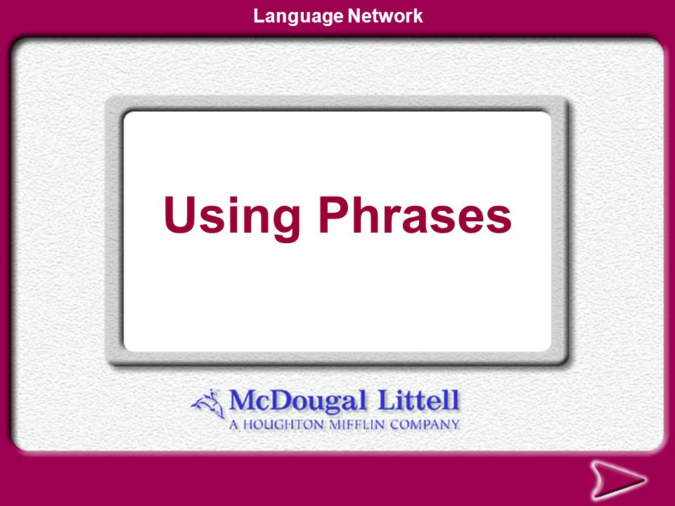 Language Network Using Phrases