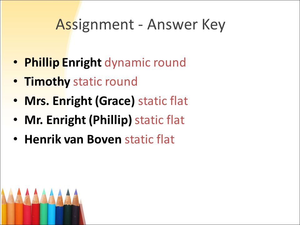 Assignment - Answer Key