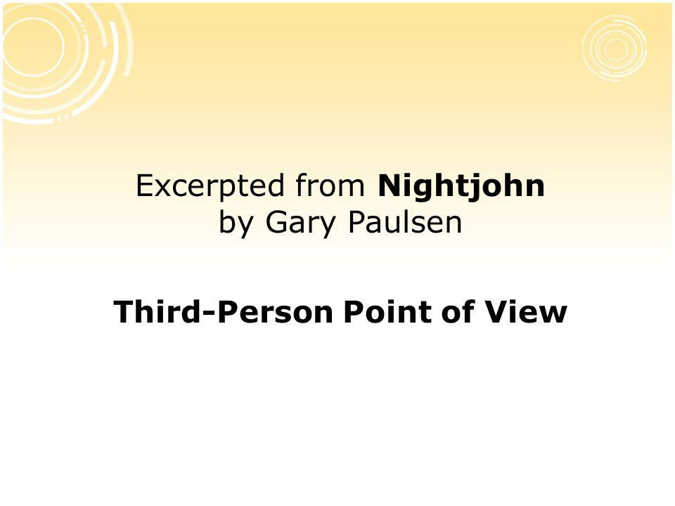 Third-Person Point of View
