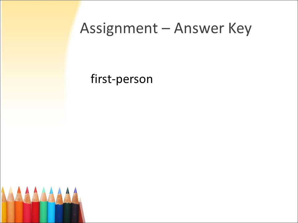 Assignment – Answer Key