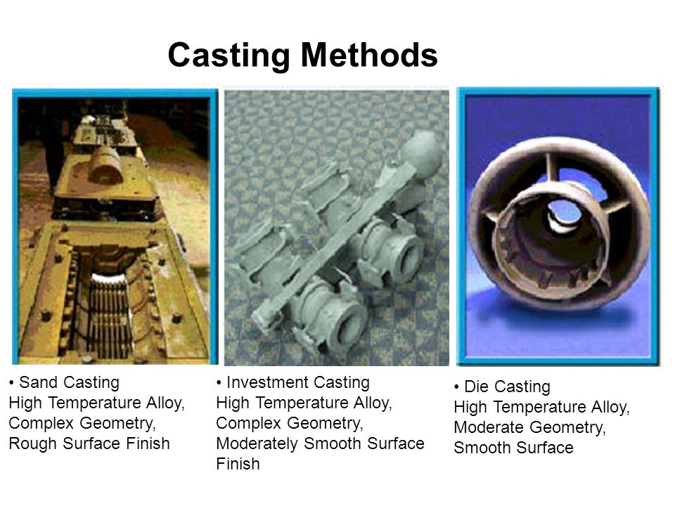 Casting Methods • Sand Casting High Temperature Alloy,