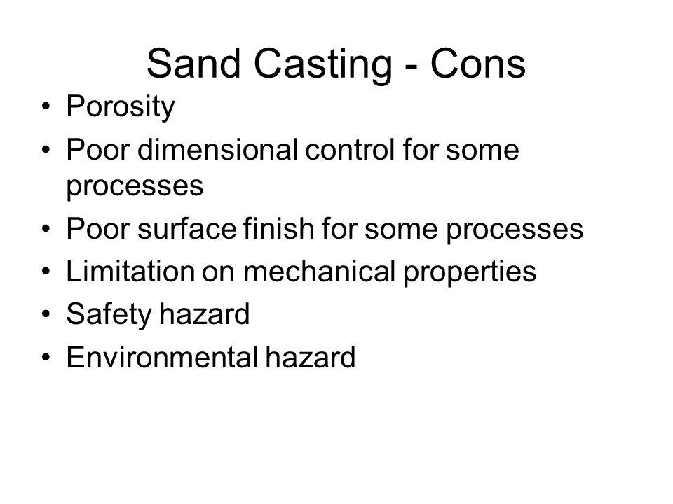 Sand Casting - Cons Porosity