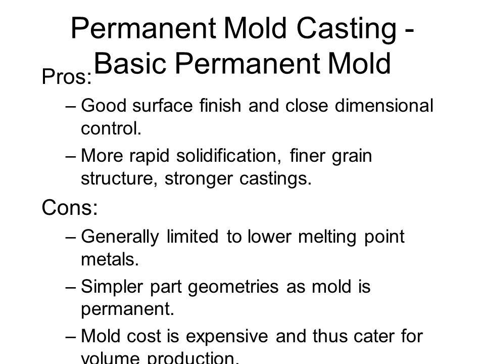 Permanent Mold Casting - Basic Permanent Mold