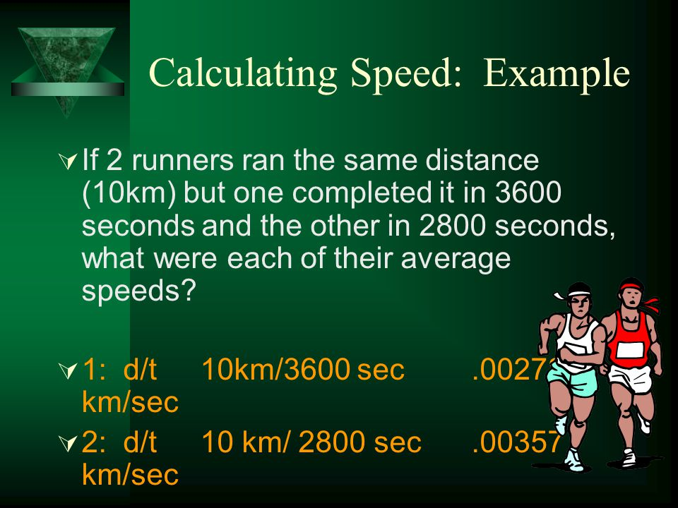 Calculating Speed: Example