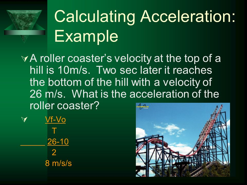 Calculating Acceleration: Example