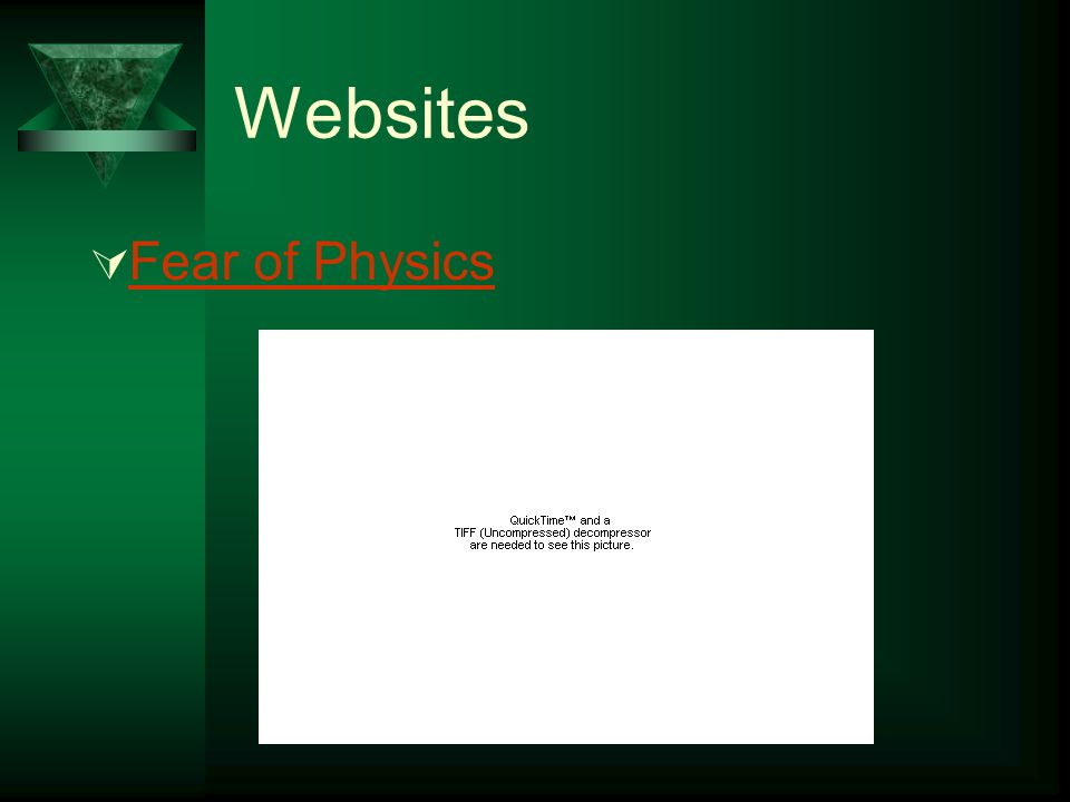 Websites Fear of Physics