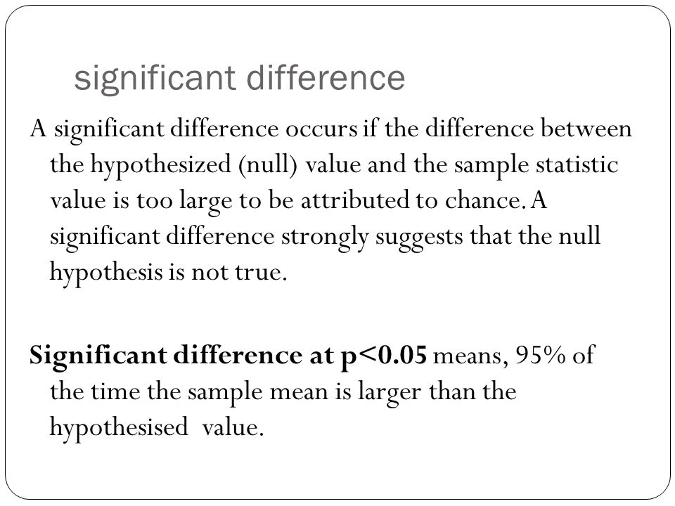 significant difference