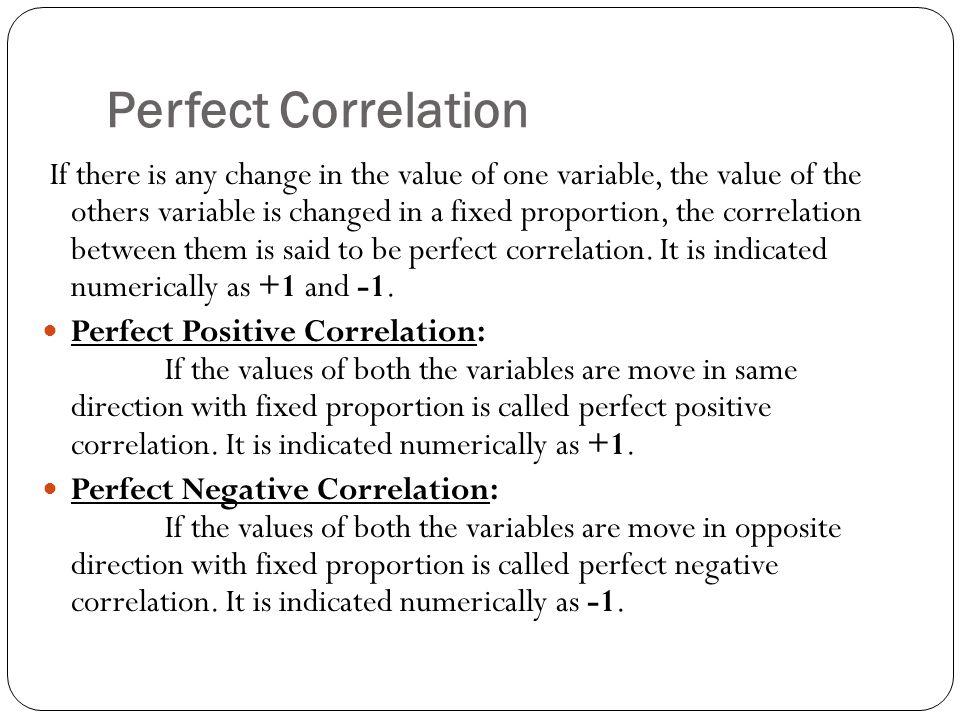 Perfect Correlation