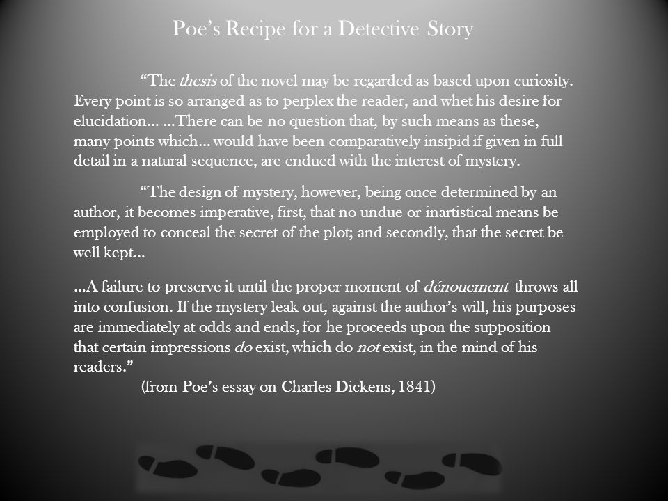 Poe's Recipe for a Detective Story