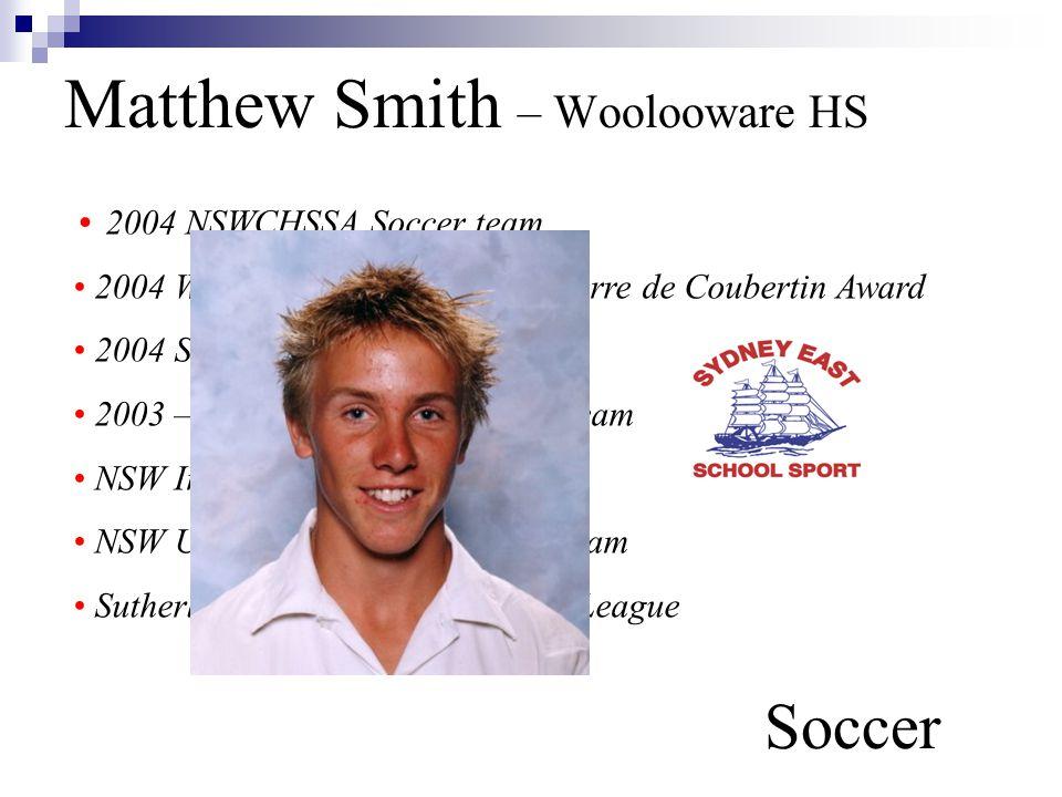 Matthew Smith – Woolooware HS Soccer