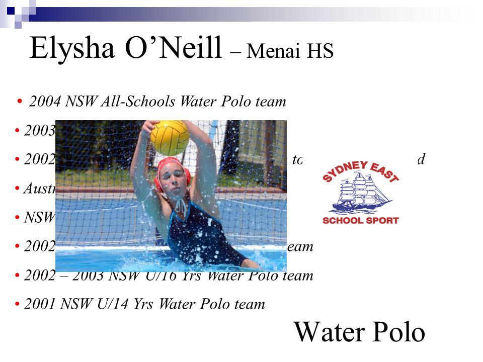 Elysha O'Neill – Menai HS Water Polo