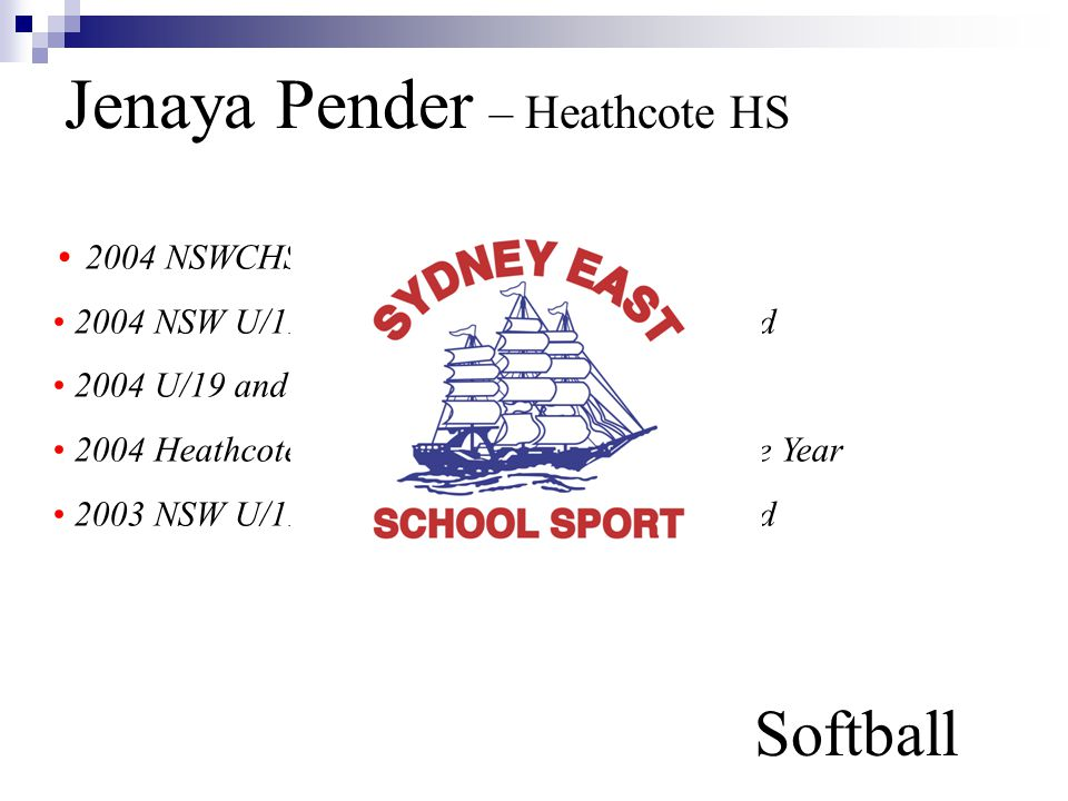 Jenaya Pender – Heathcote HS Softball
