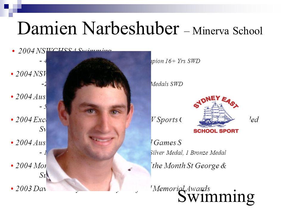 Damien Narbeshuber – Minerva School Swimming
