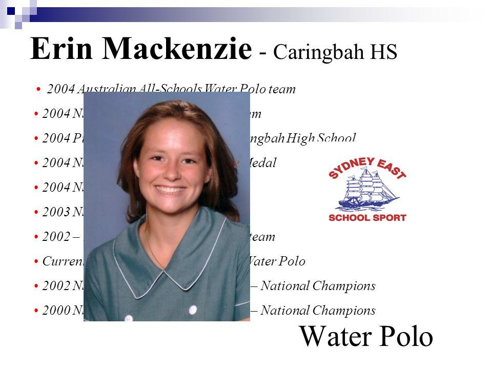 Erin Mackenzie - Caringbah HS Water Polo