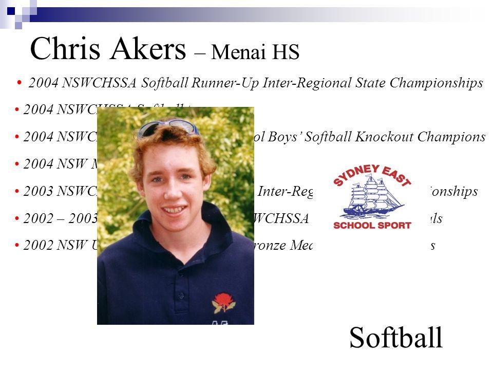 Chris Akers – Menai HS Softball