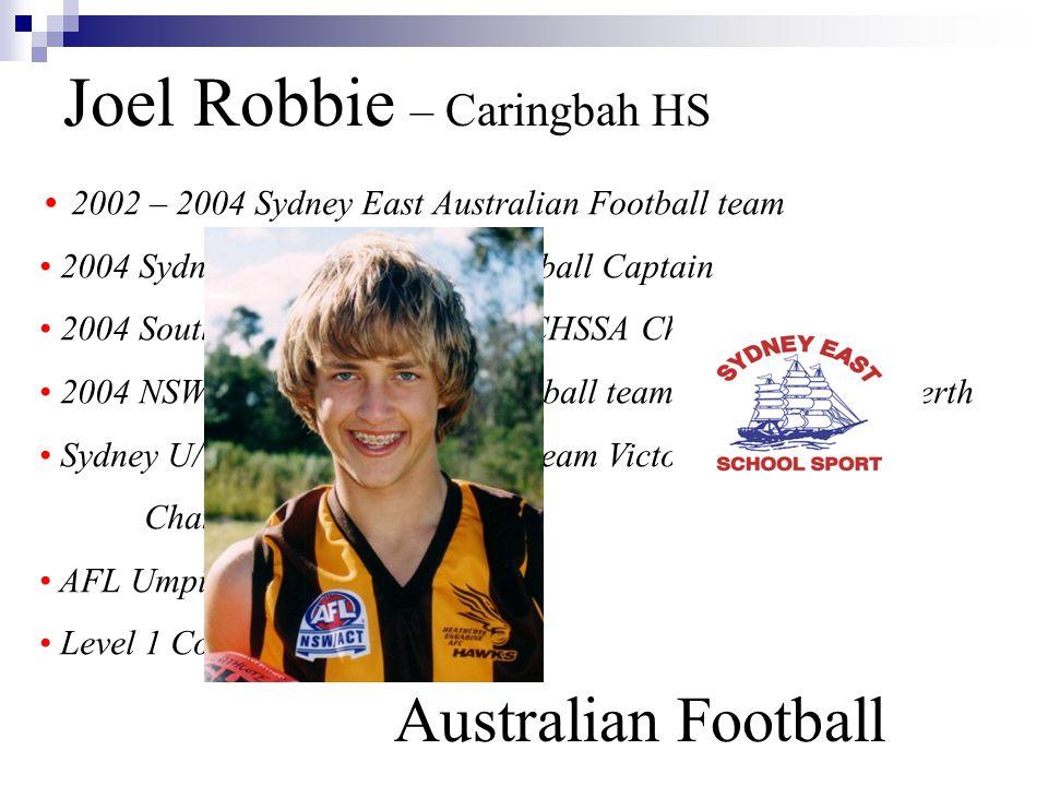 Joel Robbie – Caringbah HS Australian Football