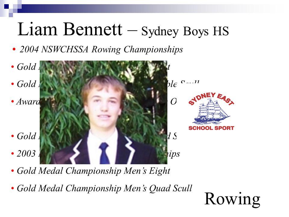Liam Bennett – Sydney Boys HS Rowing