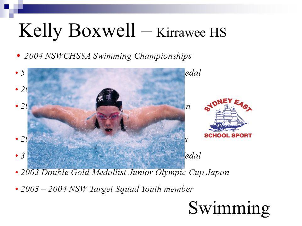 Kelly Boxwell – Kirrawee HS Swimming