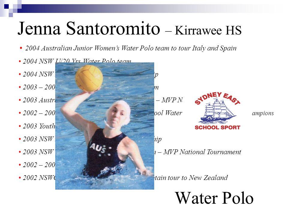 Jenna Santoromito – Kirrawee HS Water Polo