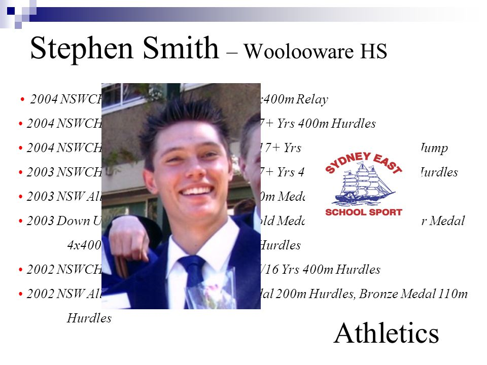 Stephen Smith – Woolooware HS Athletics