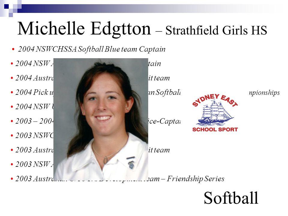 Michelle Edgtton – Strathfield Girls HS Softball